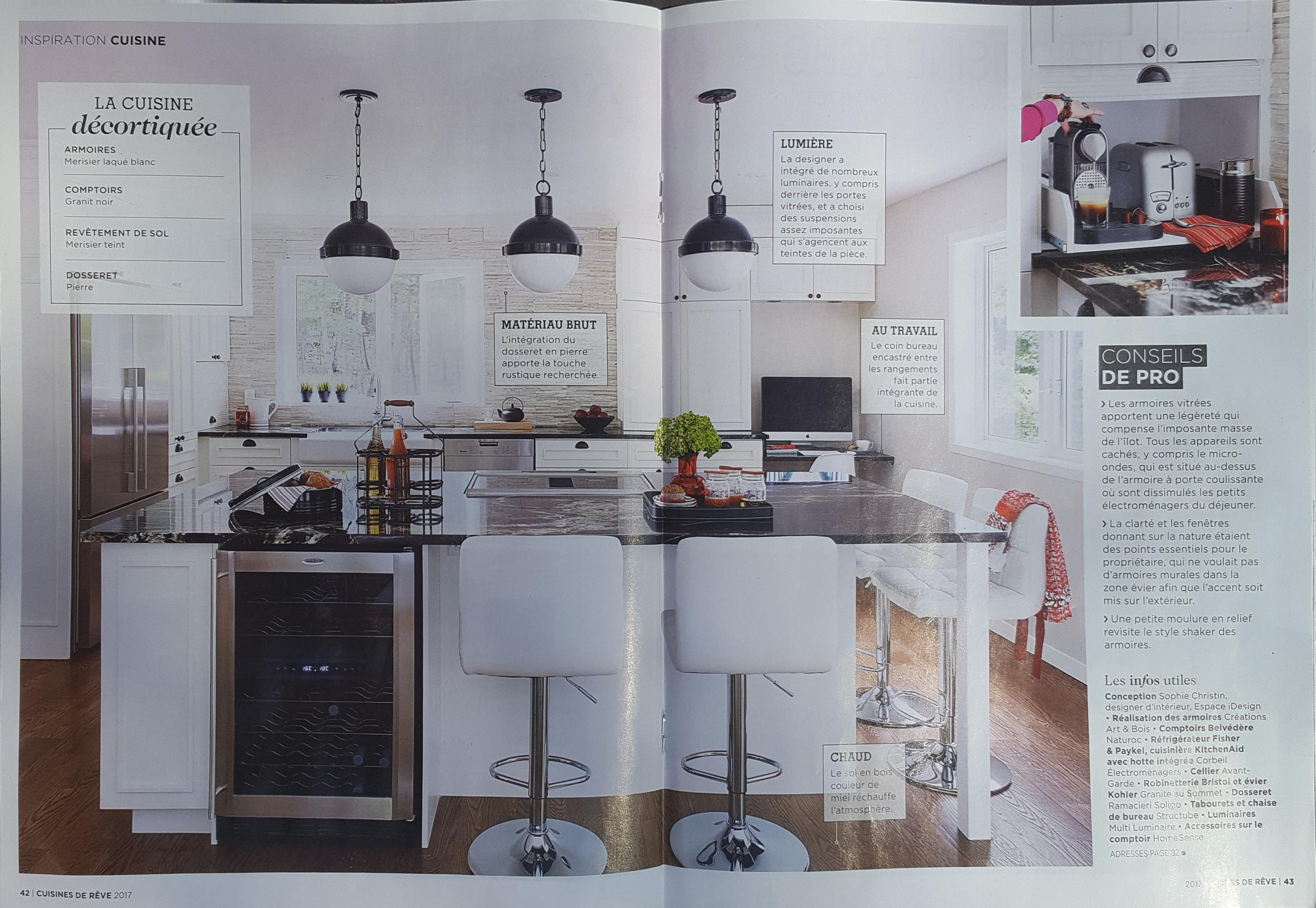 parution - cuisine de rêve - espace idesign - design d'intérieur